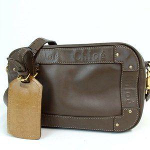 Chloe Shoulder Bag Brown Leather Women Bag Eden